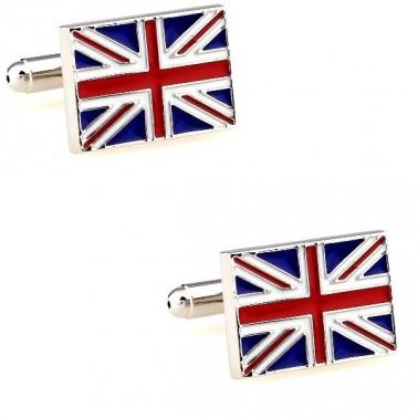 """Boutons de manchette """"drapeau anglais"""""""