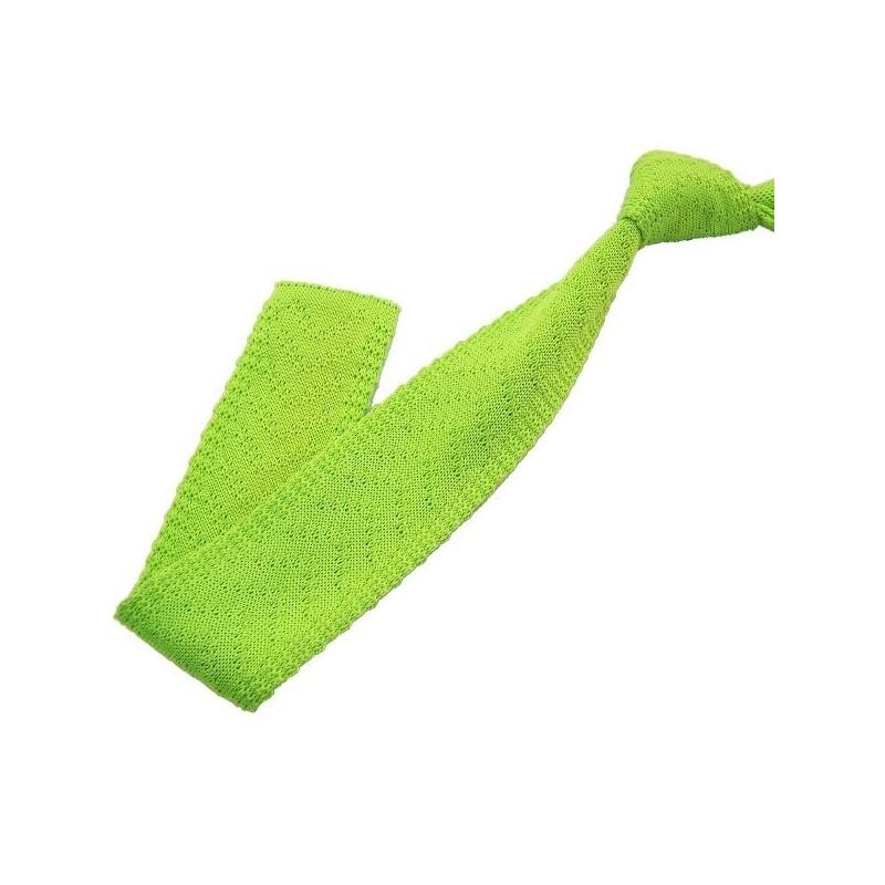 cravate tricot vert