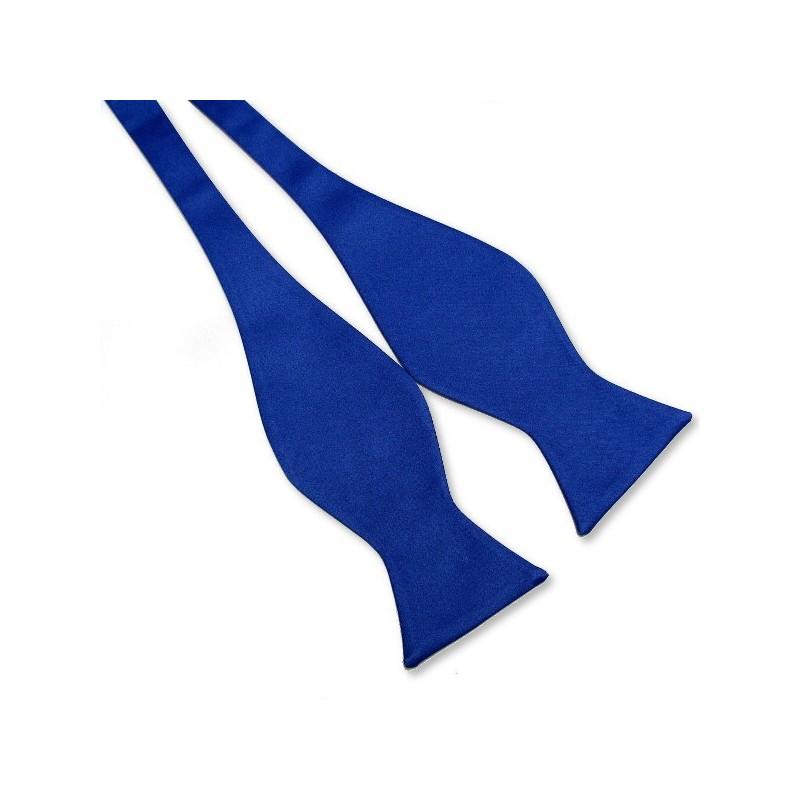 Noeud-papillon à nouer, bleu-roi