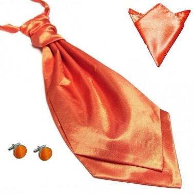 La lavallière orange & ses accessoires