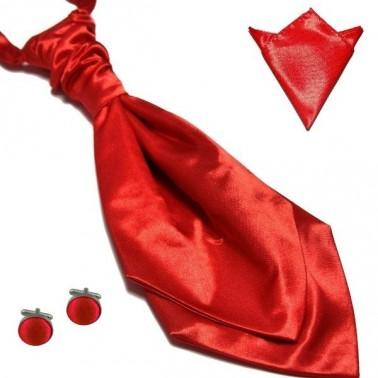 La lavallière rouge intense & ses accessoires