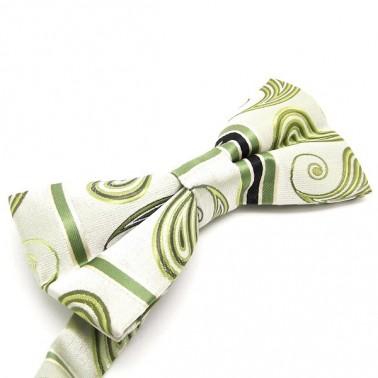 Noeud-papillon vert à motifs
