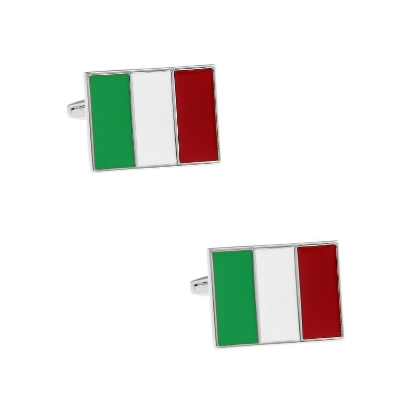 """Boutons de manchette """"Drapeau italien"""""""