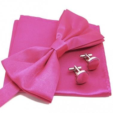 Cravate slim mauve et accessoires