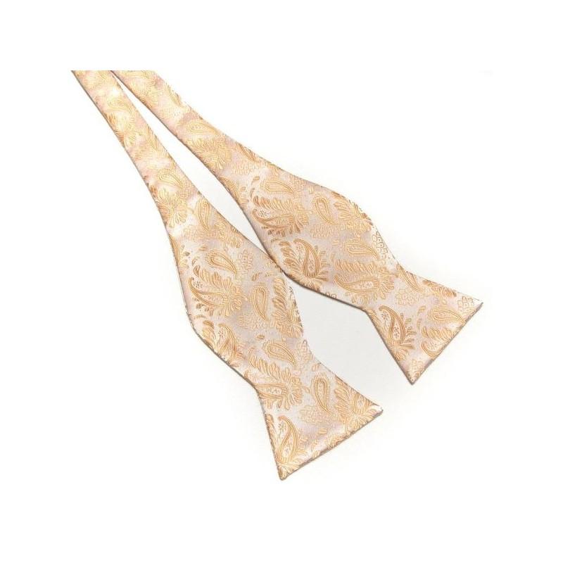 Noeud papillon couleur champagne