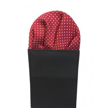 Pochette costume pliée rouge-bordeaux à motifs