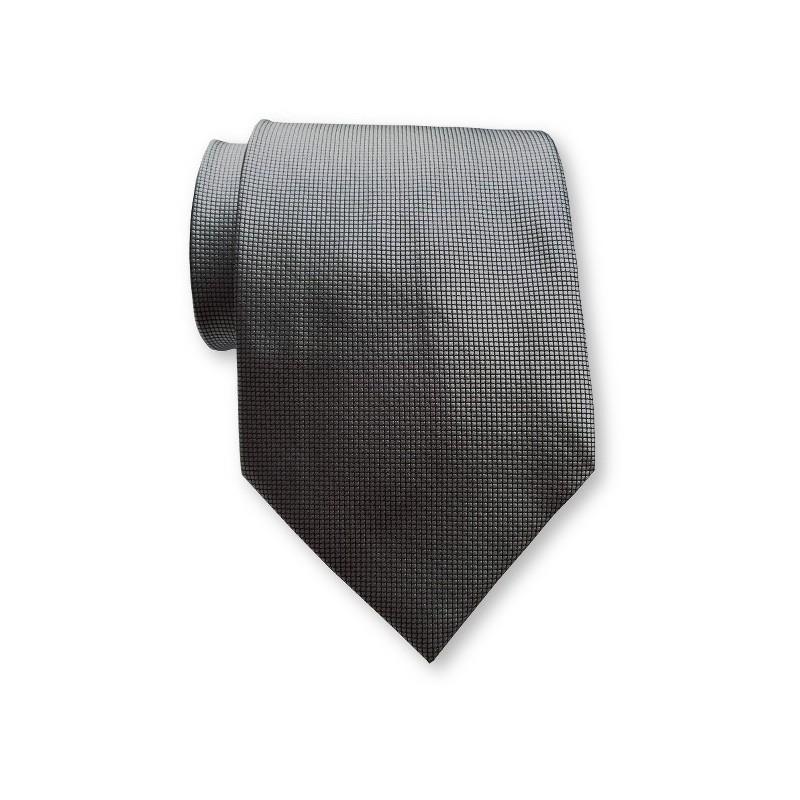 Cravate large, gris-anthracite