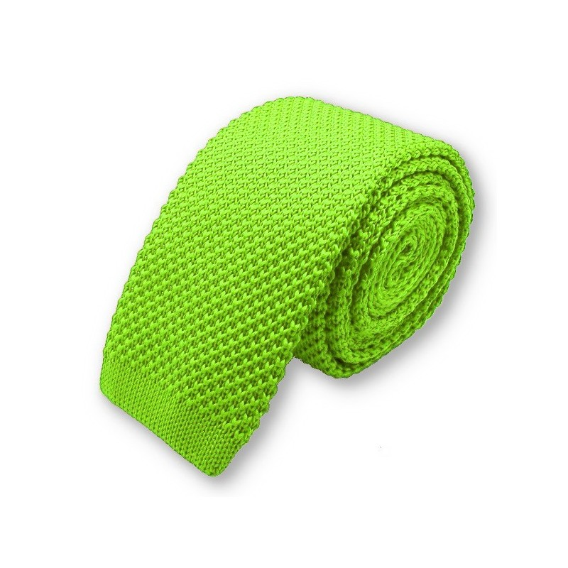 "Cravate tricot ""Vert-Pomme"""