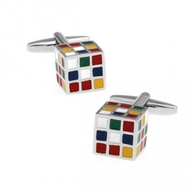 """Boutons de manchette """"rubik's cube"""""""