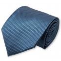 Cravate bleu-metal