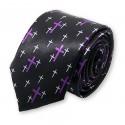 cravate étroite à motifs