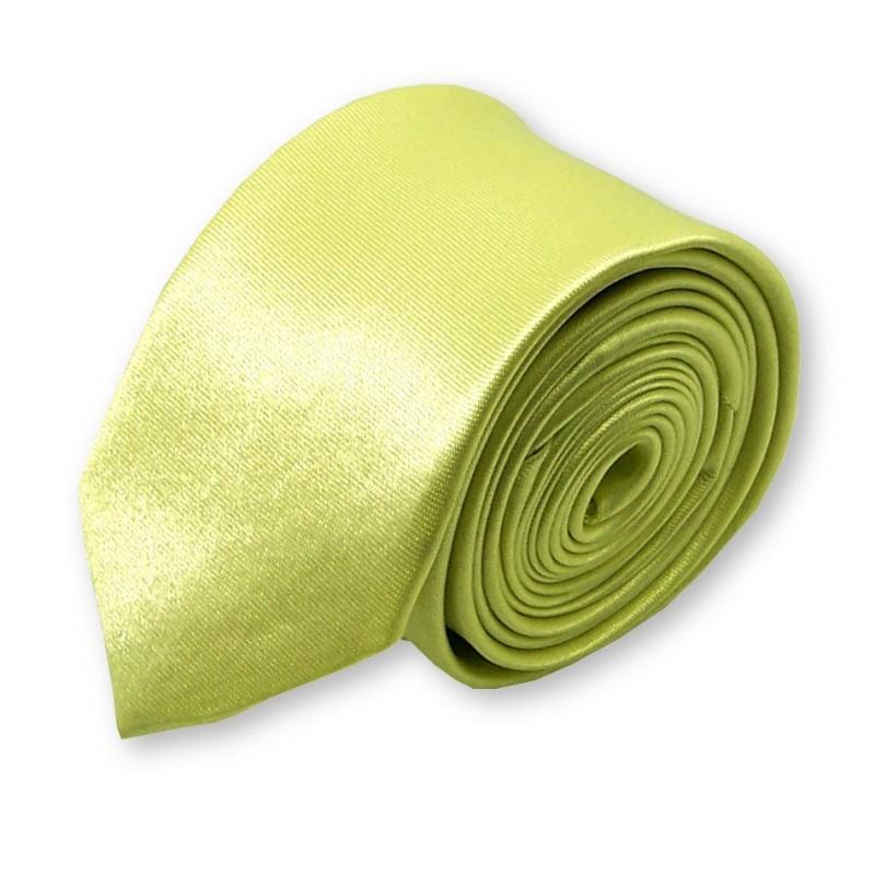 cravate slim jaune