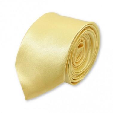 Cravate slim « fleur de vanille »