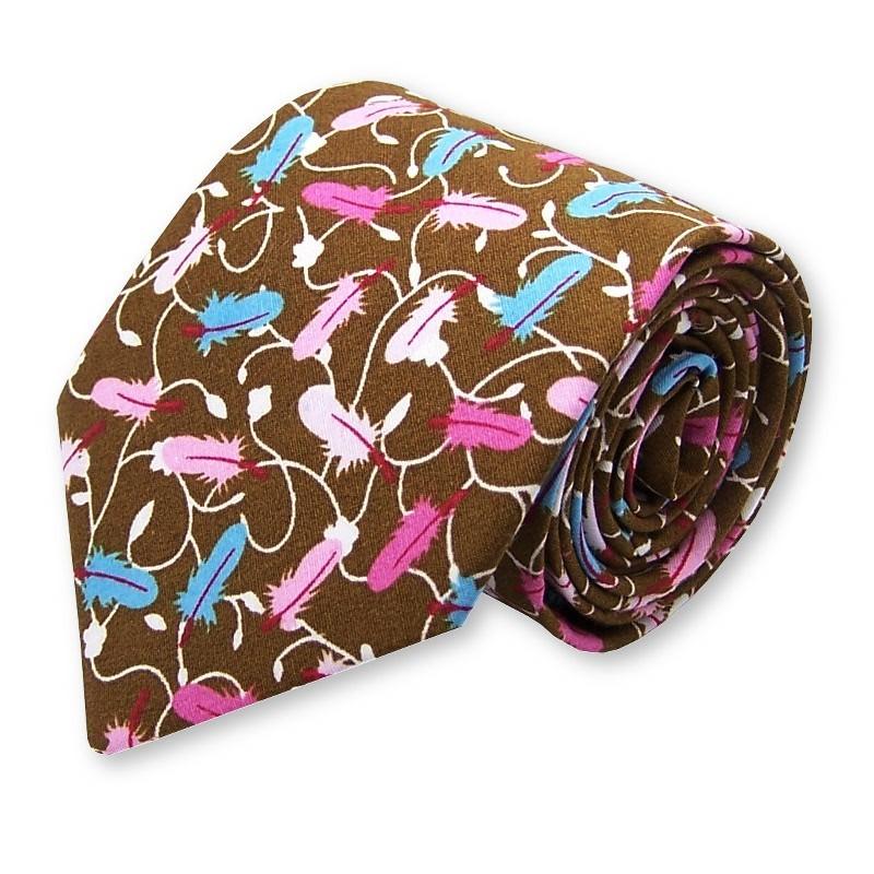 """cravate """"Plume & Chocolat"""""""