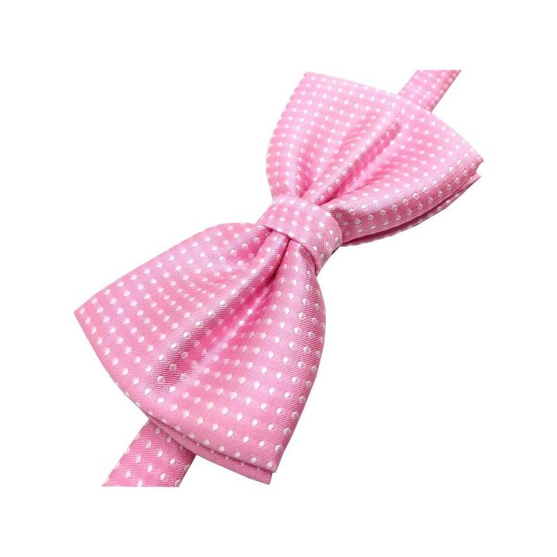 Noeud-papillon rose à motifs