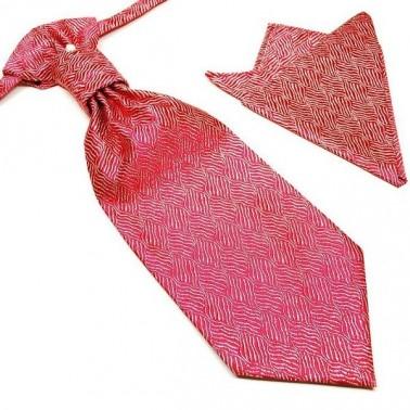 Cravate lavallière rouge + pochette