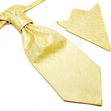 Cravate lavallière jaune + pochette