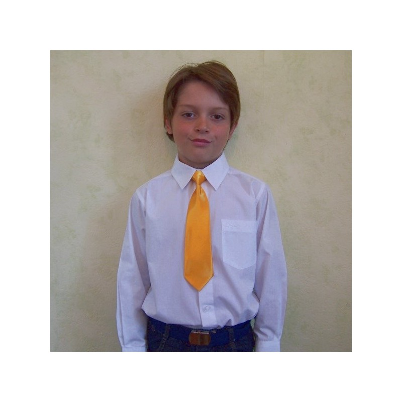 """Une cravate enfant couleur """"jaune or"""""""