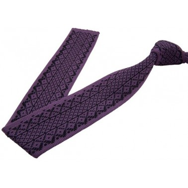 cravate tricotine, lilas foncé