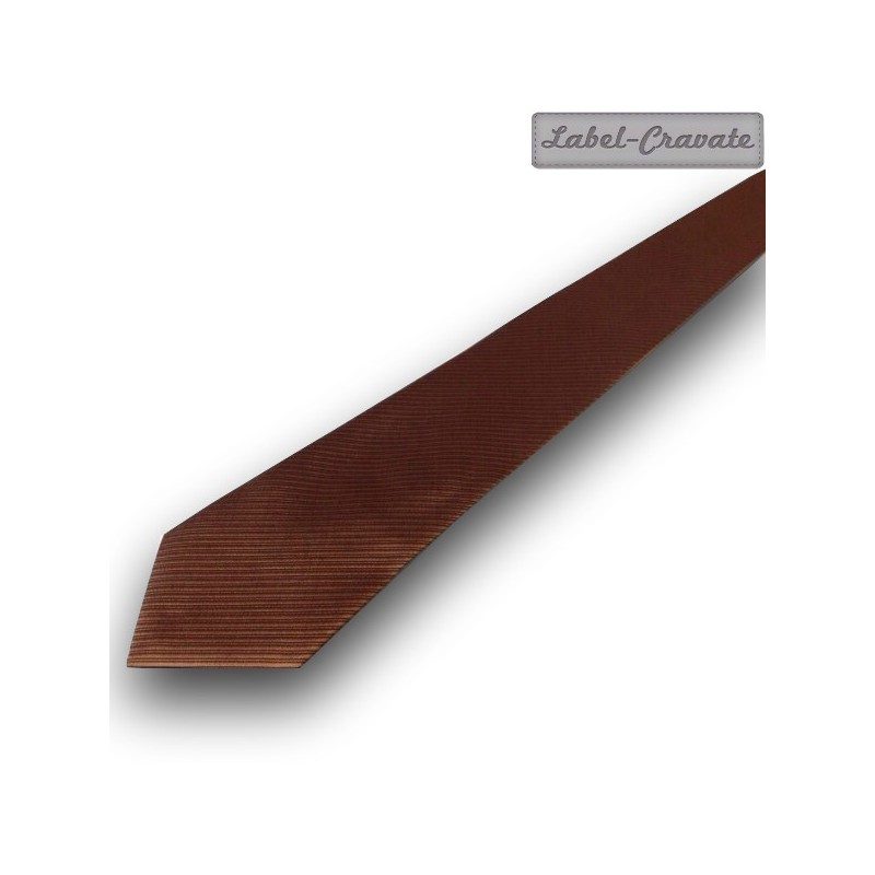 "cravate ""The Brown"", finitions main"