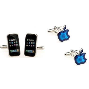 "La collection de boutons manchette ""Fan d'Apple"""