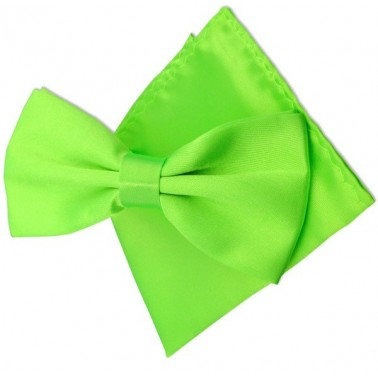 "Coffret noeud papillon vert fluo ""Pop & Color"""
