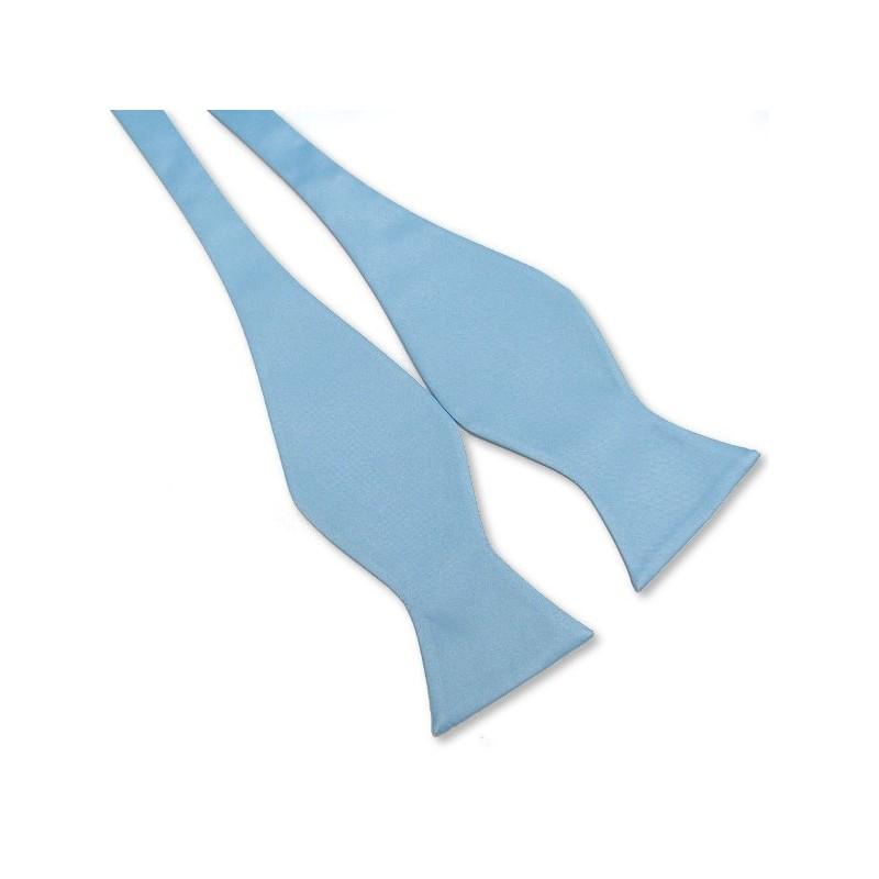 Noeud-papillon à nouer, bleu-clair