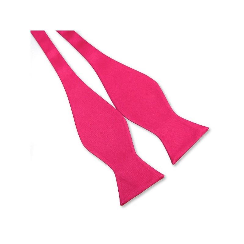 Noeud papillon nouer soi m me couleur rose fuschia - Nouer un noeud papillon ...
