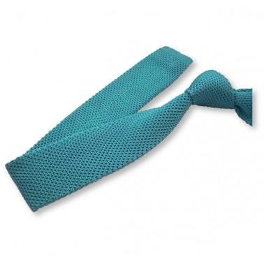 cravate tricot turquoise