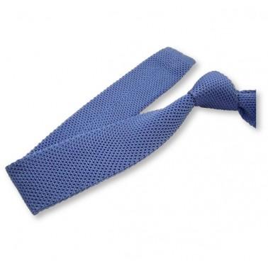 cravate tricot bleu-ciel