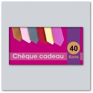 Chèque cadeau de 40€