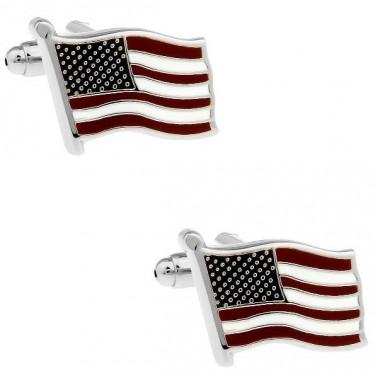 """Boutons de manchette """"drapeau américain"""""""
