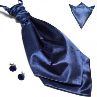 La lavallière bleu-marine & ses accessoires