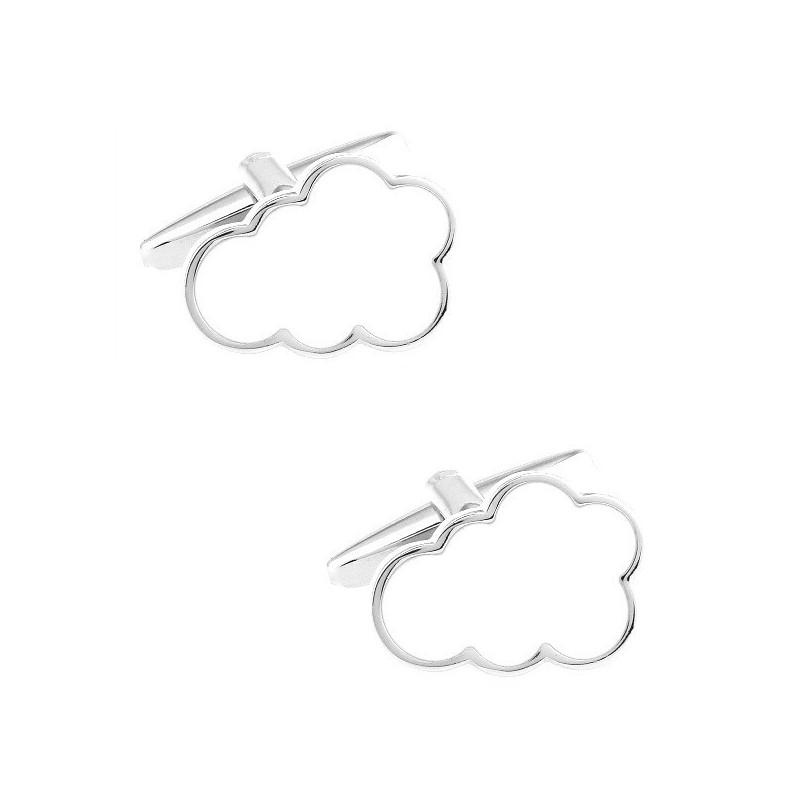 """Boutons de manchette """"le nuage"""""""