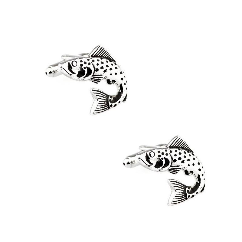 """Boutons de manchette """"poisson"""""""