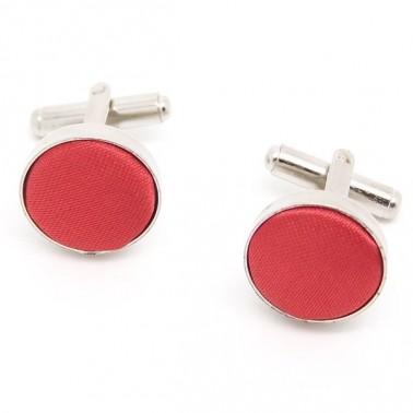 Boutons de manchette couleur rouge