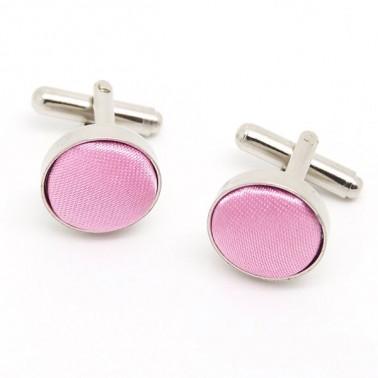 Boutons de manchette couleur rose