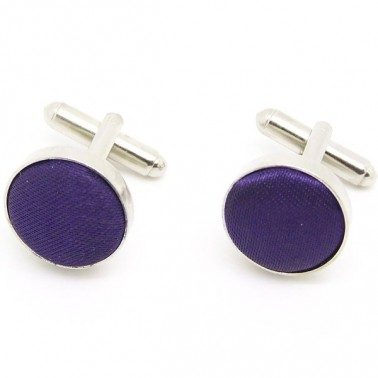 Boutons de manchette violets
