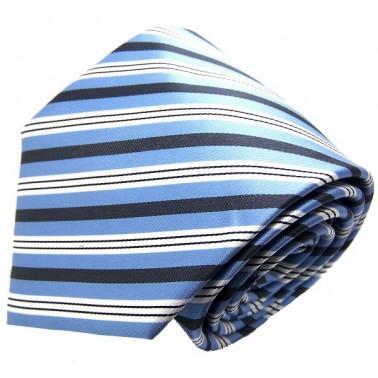 Cravate bleu-ciel à rayures