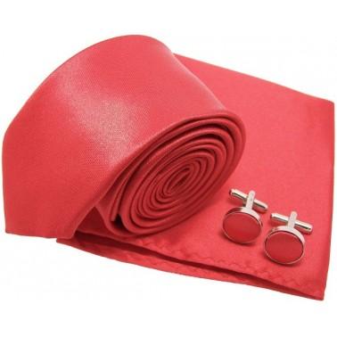 Cravate slim rouge-passion et accessoires
