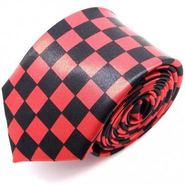 Cravate slim rouge et noire