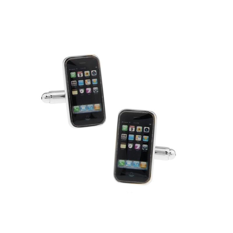 """Boutons de manchette """"iphone"""""""