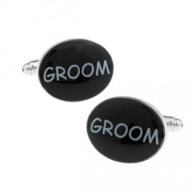 "Boutons de manchette ""Groom"""