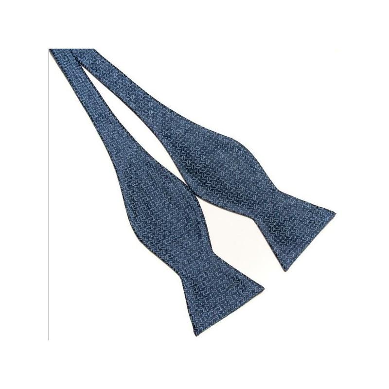 Noeud papillon à motifs bleus