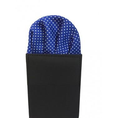 Pochette pliée bleue à motifs