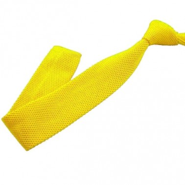 Cravate tricot jaune