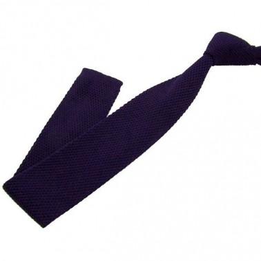 Cravate tricot violine