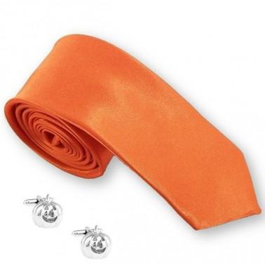 Cravate et boutons de manchette Halloween
