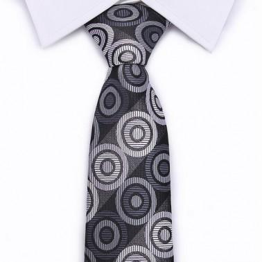 cravate noire à pois