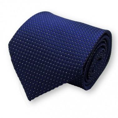Cravate bleu-nuit et ses motifs